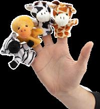 4 forskellige fingerdukker