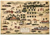 Kort over den afrikanske farm - plakat